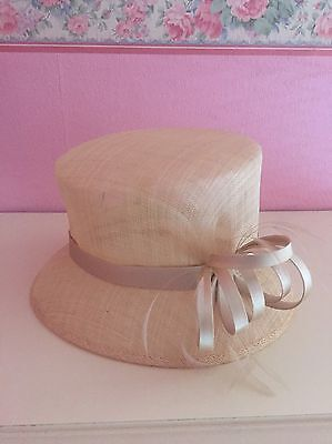 John Lewis Gold Feather And Bow Wedding Party Occasion Hat