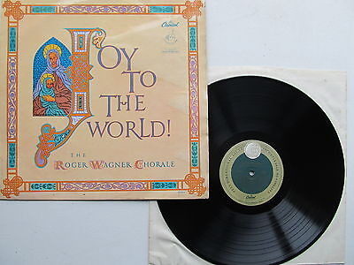"""Joy to the World 12"""" Lp Roger Wagner Chorale Capitol P8353 Mono UK 1950's"""