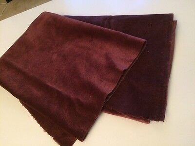 Antique Velvet Burgundy Plum Wine Salvage Fabric Material Shabby Crazy Quilts