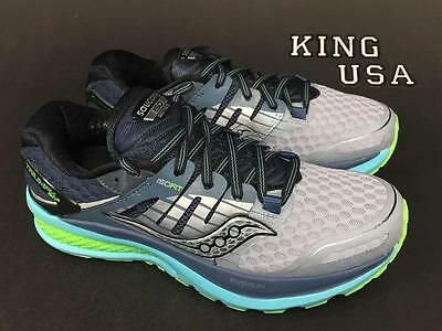 Women's Saucony Triumph ISO 2 Running Athletic Shoes S10291-1 Grey Blue Wide