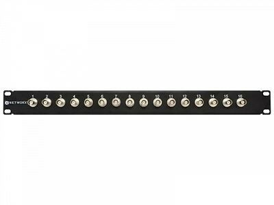 Networx 16 Port Fully Loaded BNC Coaxial Patch Panel - 1U