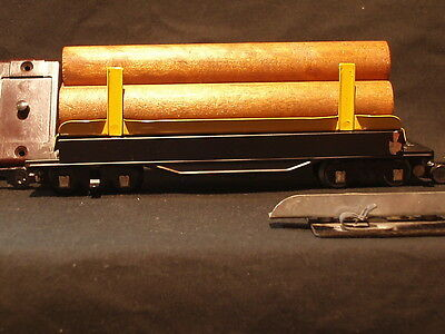 Vintage S Scale American Flyer 717 Operating Log Dump Car with Logs #2