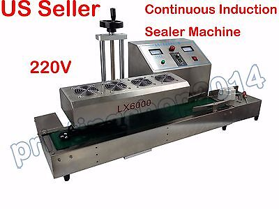 Stainless Steel Continuous Electromagnetic Induction Sealer Machine 220V