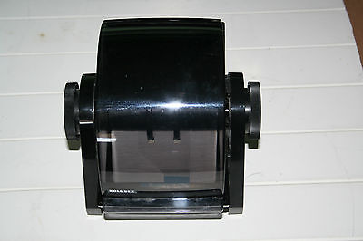 Vintage Rolodex DRF 24C Made in USA Card File, black / smoke, with tabs,USED