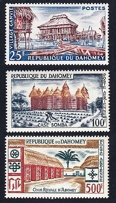Dahomey Local Life and Architecture 3v SG#144/46 SC#137+C14-C15
