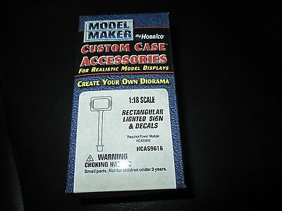 HCAS9616 Model Maker by Hobbico 1:18 scale Rectangular Lighted Sign & Decals
