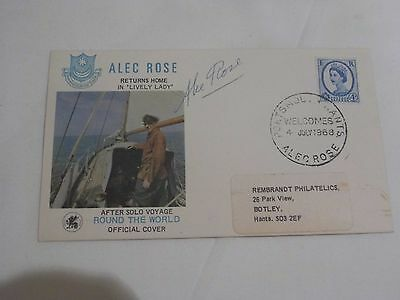 Alec Rose autographed Round the World FDC