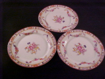 3 Heinrich & Co H C Selb Bavaria Bread & Butter Plates Floral Swags Center