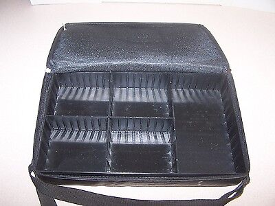 """Black """"Faux Leather""""  Audio Cassette Tape (Fits 30) Storage Carrying Case"""