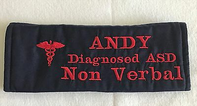 Personalised Medical Alert Seat Belt Cover