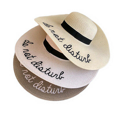 Hot Large Straw Hat Women's Wide Brim Summer Beach Sun Hat Holiday A420