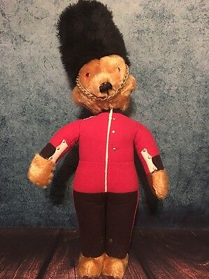 MerryThought Ironbridge Shrops Guardsman Teddy Bear VINTAGE England RARE 22""
