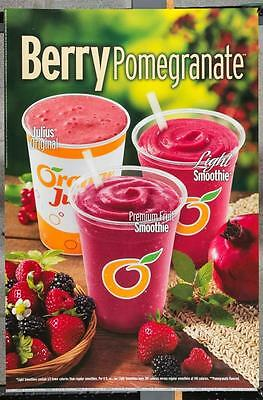 Dairy Queen Promotional Poster Berry Pomegranate Smoothies dq2