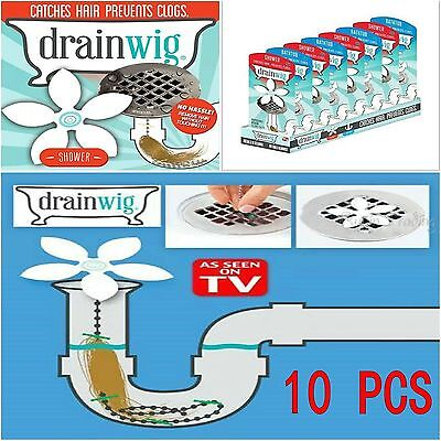10Pcs Bathroom Shower Drain Wig Chain Cleaner Hair Clog Remover Cleaning Tools
