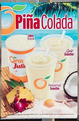 Dairy Queen Promotional Poster Pina Colada Smoothies dq2