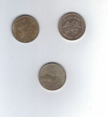 Coin Set of 3 Eagle CTX-325 Control Tokens