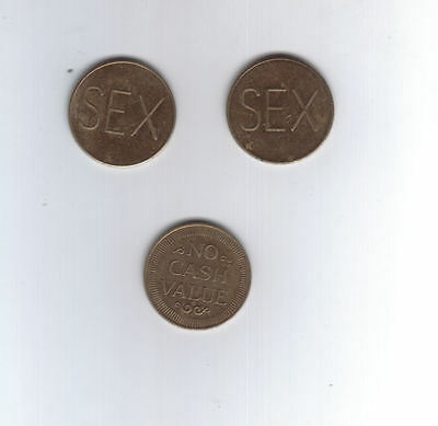 Coin Set of 3 Sex Tokens