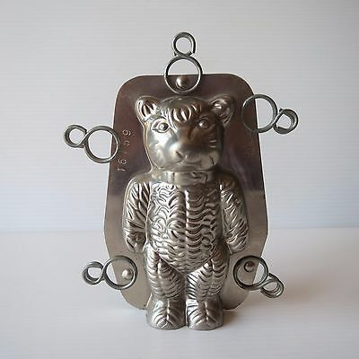 Antique Vintage Tilburg Dutch Chocolate Mould, Teddy Bear Mold, Original Clips