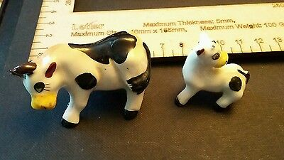 Cute cows mother and calf china collectables