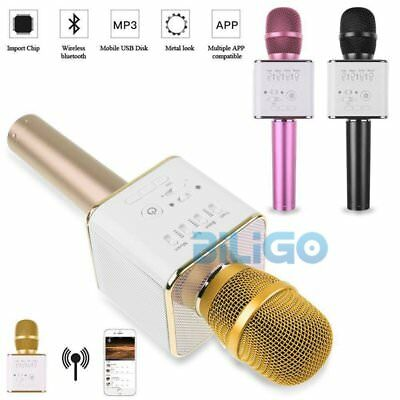 Q9 Mini Wireless Bluetooth Karaoke Microphone Speaker Handheld Mic USB Player