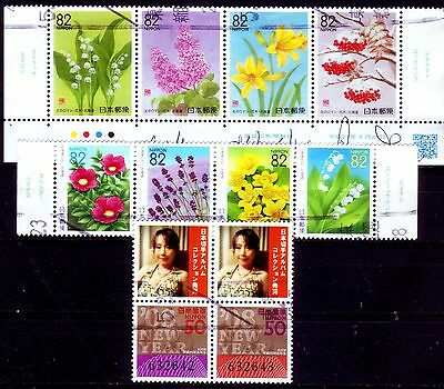 Japan === Reissued Prefecture Stamps 82 Yen Etc === Used Se-Tenant