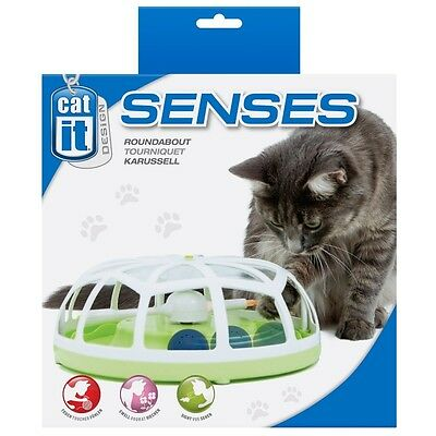 Catit Senses Cat & Kitten Interactive Play Catnip Ball Spinner Toy - Roundabout