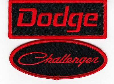 Dodge Challenger Black Red Sew/iron On Patch Embroidered Hemi Mopar Car