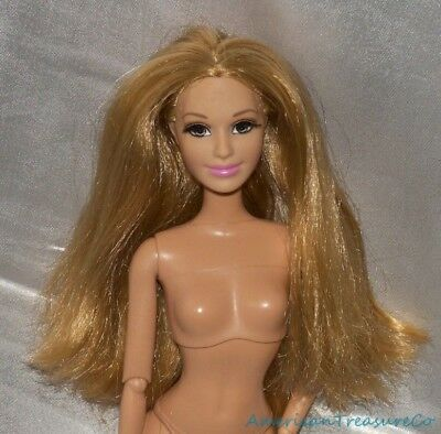 Rare Barbie Fashionistas Dreamhouse Summer Jointed Doll Honey Blonde Real Lashes