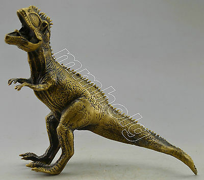 Collectible Decorated Old Handwork Copper Carved Dinosaur Statue