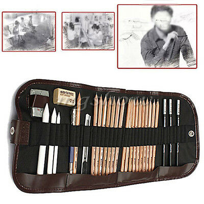 29x Drawing Sketching Sketch Pencil Pen Set Writing Craft Art Student Stationery