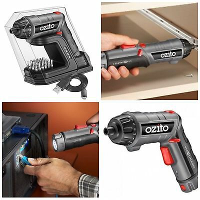 Ozito Cordless Lithium  3.6 Rotary Screwdriver Transforms Into Led Torch