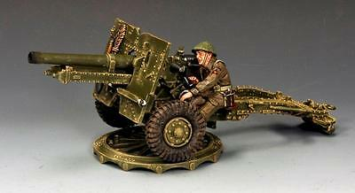 """King And Country  Ww11 D-Day """"british 25 Pounder Field Gun And Figure """" Dd204"""