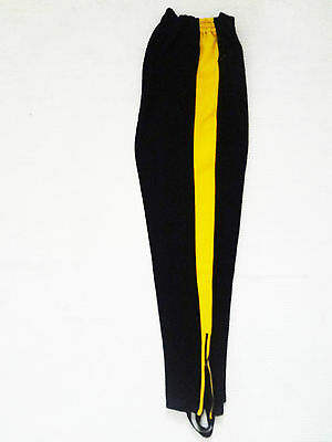 Puma  Vintage Black Stirrup Training Trousers Made In West Germany D6