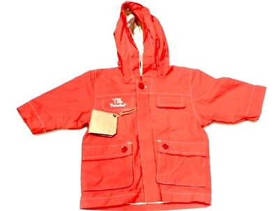 Timberland baby boys 3M 00 - 0 red hooded wind jacket coat NWT