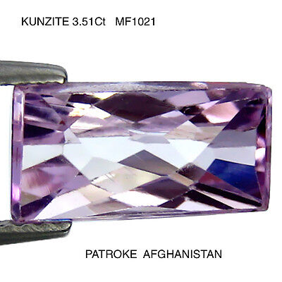 KUNZITE NATURAL UNTREATED STONE 3.51Ct  MF1021
