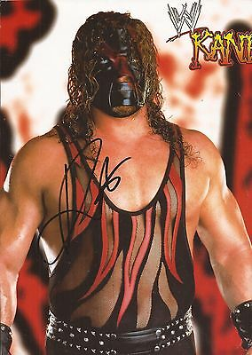 WWE WRESTLING: KANE SIGNED A4 (12x8) CALENDAR PICTURE+COA **PROOF**