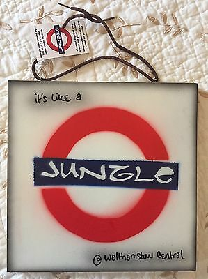Original work street artist Jungle Angelo - Its A Jungle At Walthamstow Central