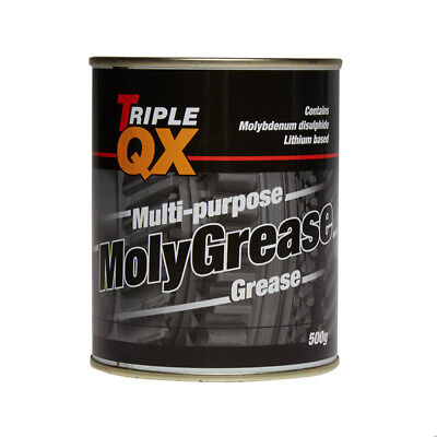 Multi Purpose Molybdenum Moly Grease 500g Lubricant High Melting Point Triple QX