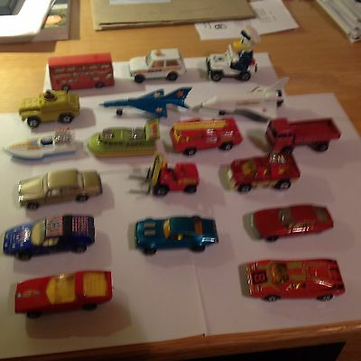 Matchbox - job lot of 18 small die cast vehicles
