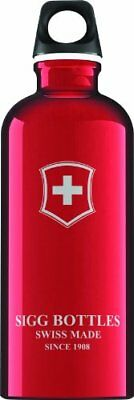 Sigg - Swiss Emblem Red - 0.6L- Aluminum Water Bottle