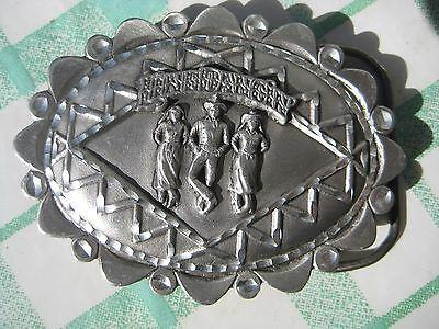 line dancing solid fine pewter the great american buckle co belt buckle - MINT