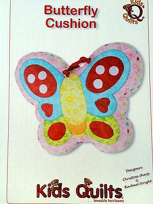 Butterfly Cushion Sewing And Applique Pattern By Kids Quilts New Zealand
