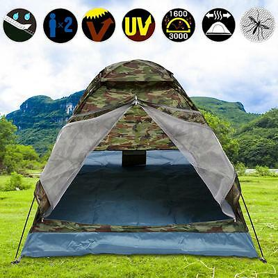2 Person Lover Camping Tent Double-layer PU Waterproof Outdoor Hiking 4 Season