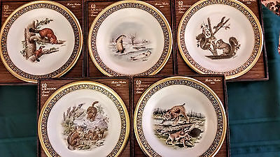 Lenox BOEHM Limited Edition Woodland Wildlife Collector Plates; lot of 5