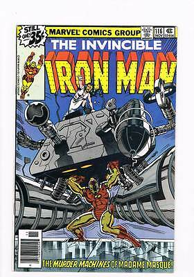 Iron Man # 116 Anguish Once Removed! Madame Masque! grade 8.5 scarce !!