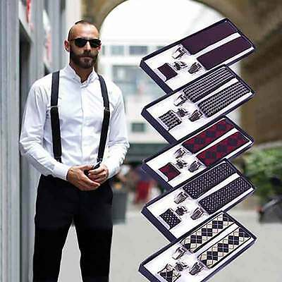 25mm / 35mm WIDE Durable Trouser Heavy Duty MEN WOMEN  BRACES  SUSPENDER ELASTIC