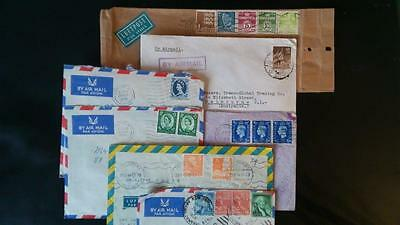Covers Letters from various countries to Australia