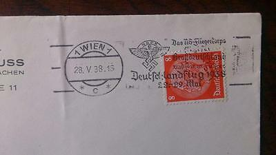 Cover letter sent inside Wien under Reich Occupation in 1938