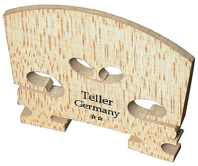 Teller (2 Star) Figured Maple Full Size Violin Bridge, Unfitted