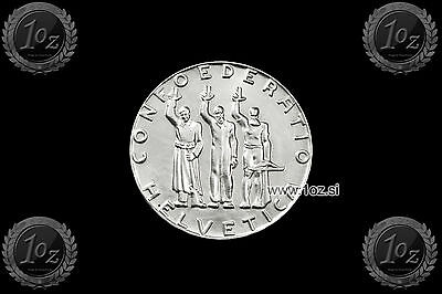 SWITZERLAND 5 FRANCS 1941 (Anni of CONFEDERATION) SILVER Comm. coin (KM# 44) UNC